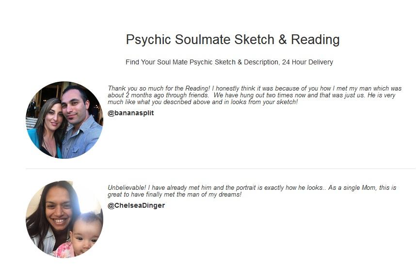 Psychic Soulmate Sketch Drawings